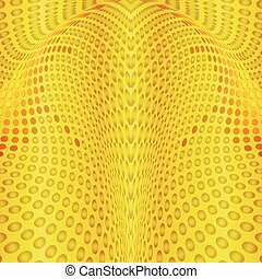 Abstract background gold circles