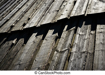 gray old wooden wall paneling