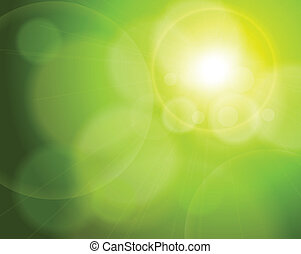 abstract background green - Abstract background green blurry...