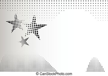 abstract background halftone dots stars, vector