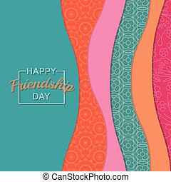 Abstract background. Happy Friends