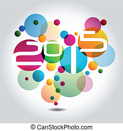 New Year 2015 - Abstract Background - Happy New Year 2015