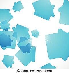 abstract background: house
