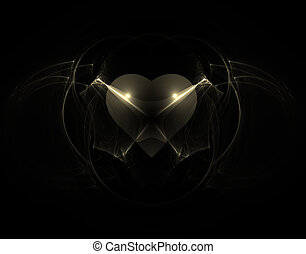 gothic heart - abstract background illustration - gothic...
