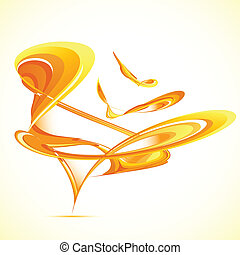 Abstract Background - illustration of abstract shape on ...