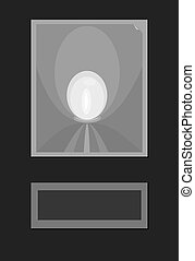 Abstract background of simple black gray white shapes making...