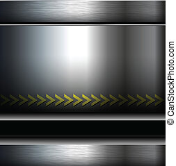 Abstract background - Abstract metallic background, danger...