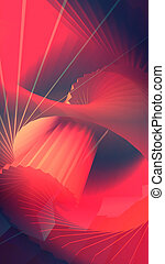 Abstract background imitating a staircase spiral. 3d rendering