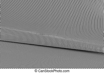 Abstract background in black and white stripes
