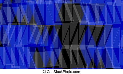 Abstract background in blue on black