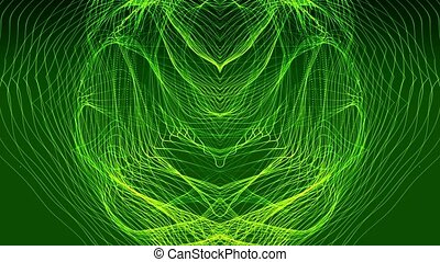 Abstract background in dark green
