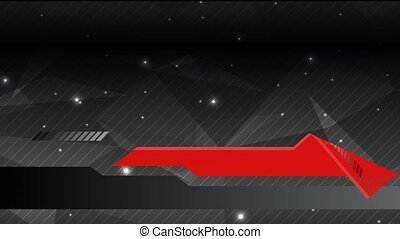 Abstract background in dark grey with red modern elements