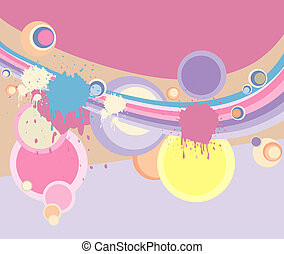 abstract background in pastel color