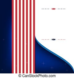 Abstract Background in style of USA strip flag left rising
