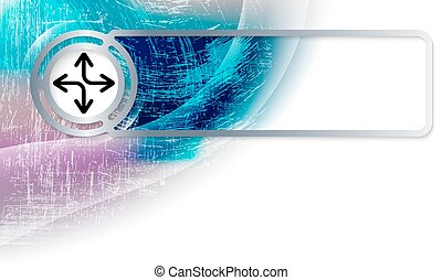 Abstract background in the corner and Vector frame with arrows
