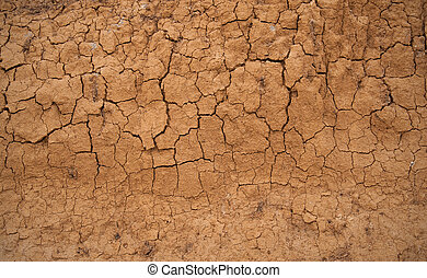 Abstract background in the form of the cracked clay wall