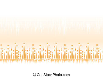 Abstract background in warm colors - vector