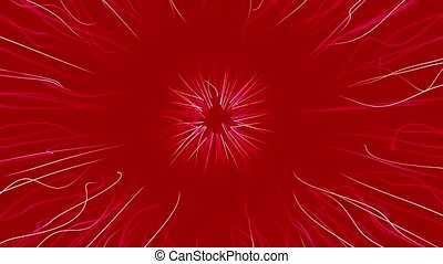 Abstract background in white and red