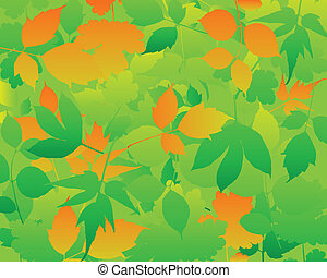 Abstract background leaves vector.