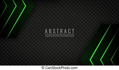 Abstract background light green neon technology geometric vector