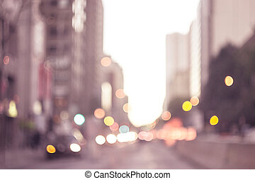 Abstract Background Lights in the City, Night life, Night City