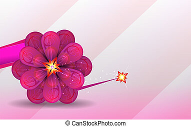 abstract background. lilac flower.
