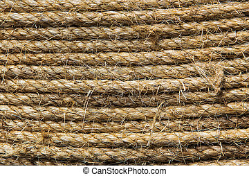 Abstract background made with white rope