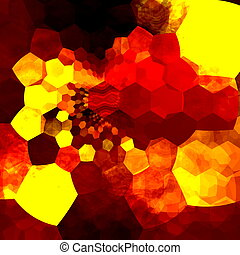 Abstract Background Mosaic - Orange