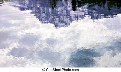 abstract background mountain reflecting in lake