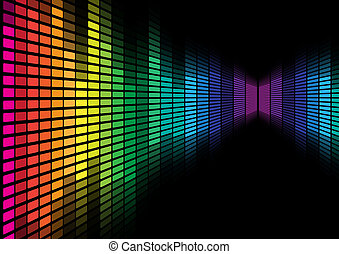 Abstract Background - Multicolor Equalizer on Black...