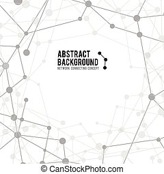Abstract background network connect concept - vector illustration 001