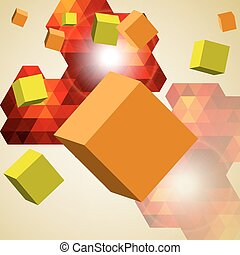 Abstract background of 3d cubes.