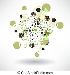 Abstract background of a circular symmetrical design with space for text