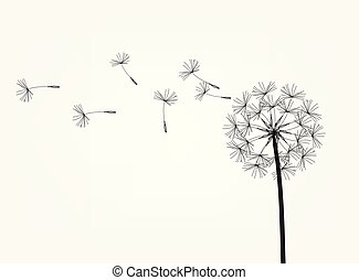 Abstract background of a dandelion for design. The wind...
