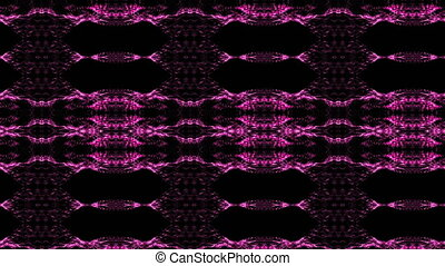 Abstract background of a kaleidoscope consisting of particles. Colorful