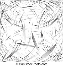 Abstract background of abstract elements. Monochrome drawing in gray and silver tones. Vector.