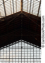 abstract background of an old industrial building