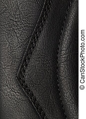 abstract background of black leather. texture