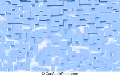 abstract background of blue cube shapes