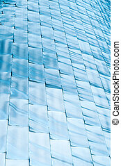 Abstract background of blue shining blocks.