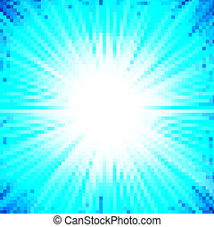 Abstract background of blue star burst