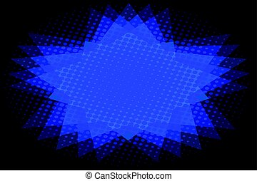 Abstract background of blue star