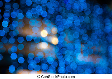 blurred cool blue lights - abstract background of blurred...