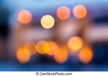 abstract background of blurred lights with bokeh effect -...