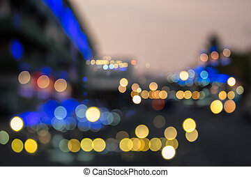 abstract background of blurred street city lights - abstract...