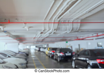 Abstract background of car parking, shallow depth of focus