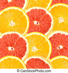 Abstract background of citrus slices
