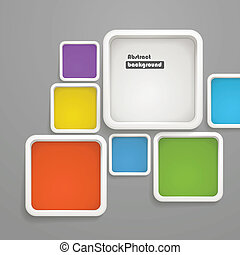 Abstract background of color boxes