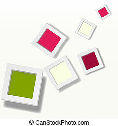Abstract background of color boxes.