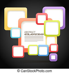 Abstract Background of color boxes with blank area for any content